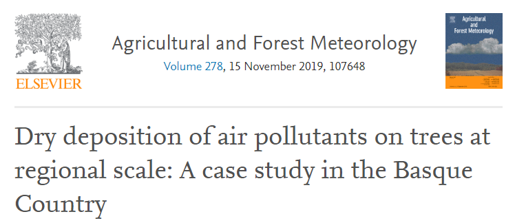 New publication on deposition of air pollutants on trees