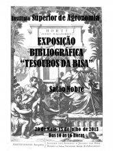 """Cartaz da Exposição Bibliográfica """"Tesouros da BISA"""""""