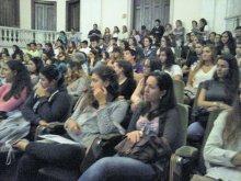 Receção Institucional aos Novos Alunos - audiência na Sala de Atos
