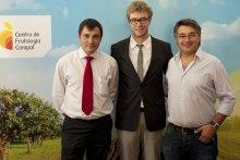 Vencedores da Academia - Filipe Alves, Ricardo Tojal e Jorge Serafim em representação de Aurora Santos