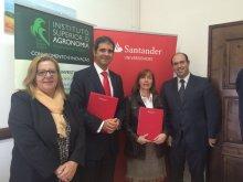Assinatura do convenio entre o ISA e o Santander Totta