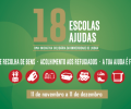 Cartaz 18 escolas, 18 ajudas - 2015