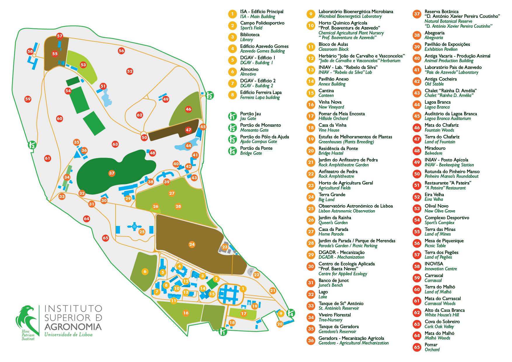 universidade tecnica de lisboa mapa Localização | Instituto Superior de Agronomia universidade tecnica de lisboa mapa