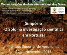 O Solo na Investigação Científica em Portugal